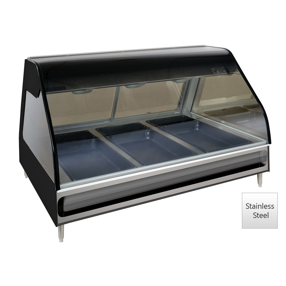 "Alto Shaam ED2-48/P-SS 48"" Self-Service Countertop Heated Display Case - (3) Pan Capacity, 120v/208-240v/1ph"