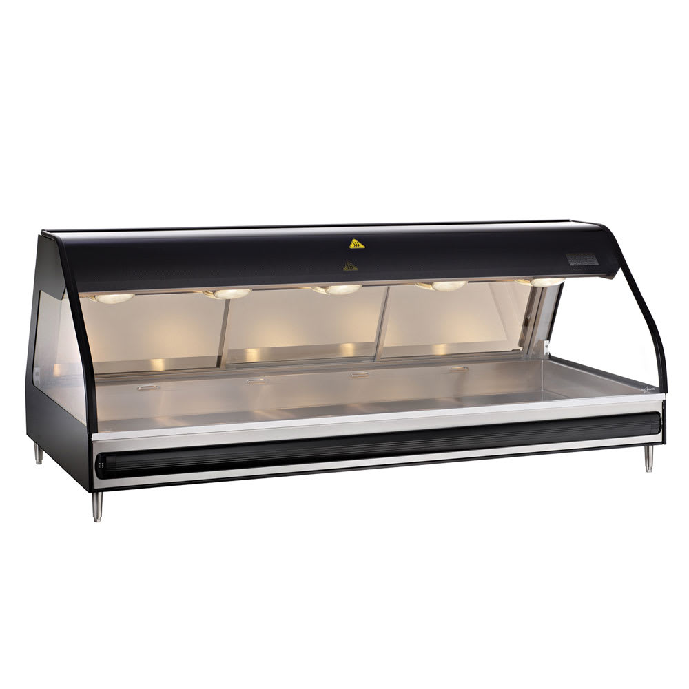 "Alto Shaam ED2-72/P-BLK 72"" Self-Service Countertop Heated Display Case - (5) Pan Capacity, 120v/208 240v/1ph"