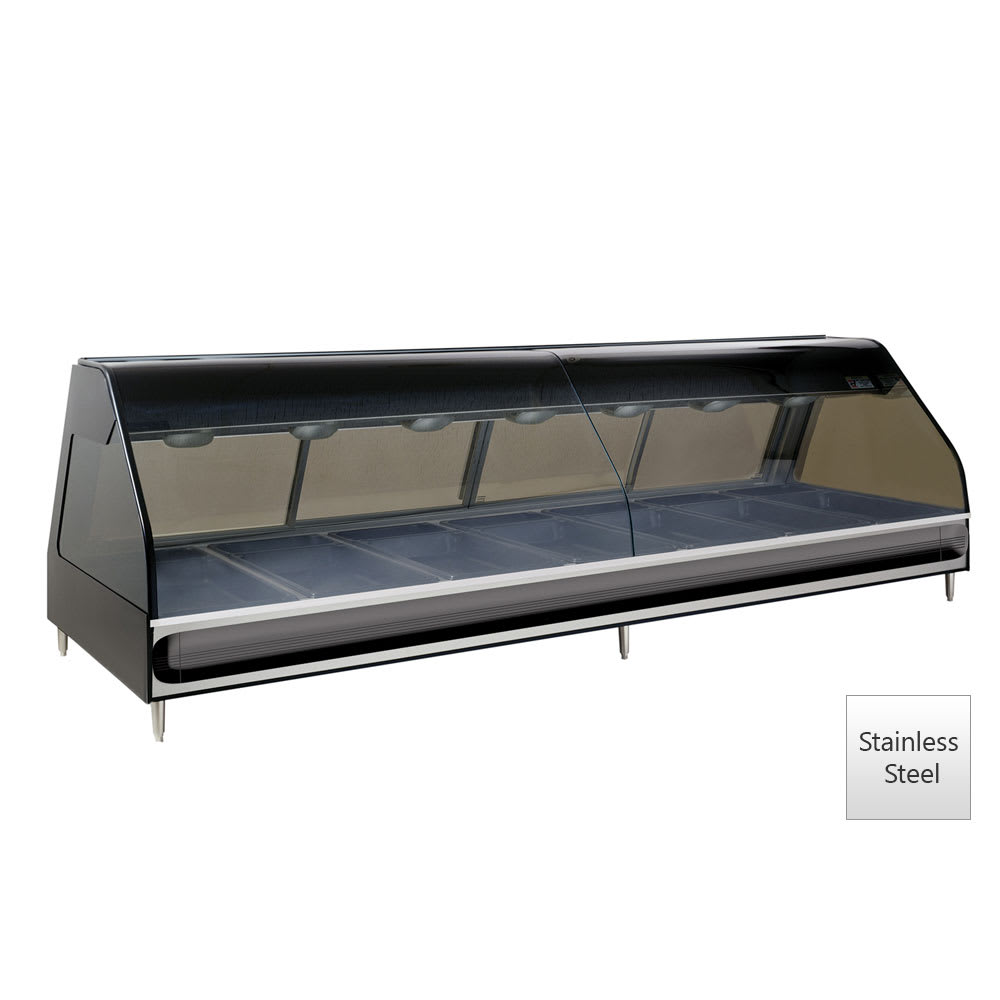 "Alto Shaam ED2-96/PL-SS 96"" Dual-Service Countertop Heated Display Case - (7) Pan Capacity, 120v/208-240v/1ph"
