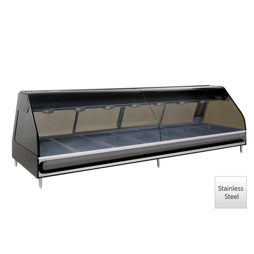 "Alto Shaam ED2-96/PR-SS 96"" Dual-Service Countertop Heated Display Case - (7) Pan Capacity, 120v/208-240v/1ph"