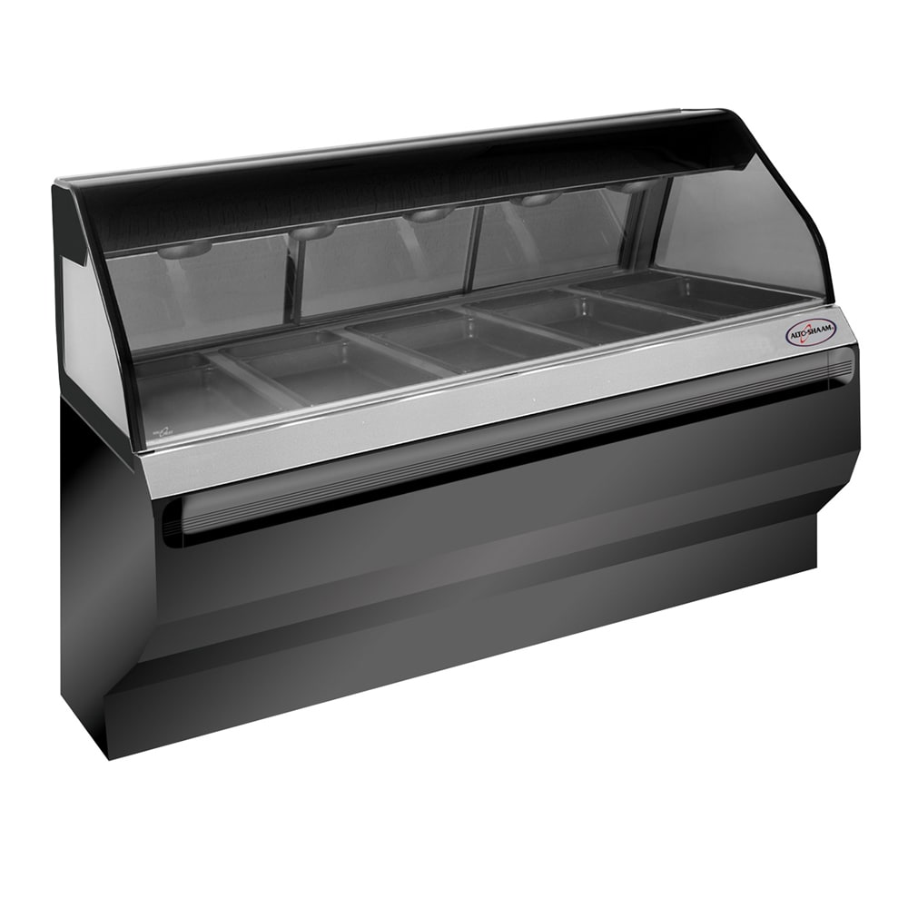 """Alto Shaam ED2SYS-72/PL-SS Full & Self Serve Display Case, European Base, 72"""", Stainless"""