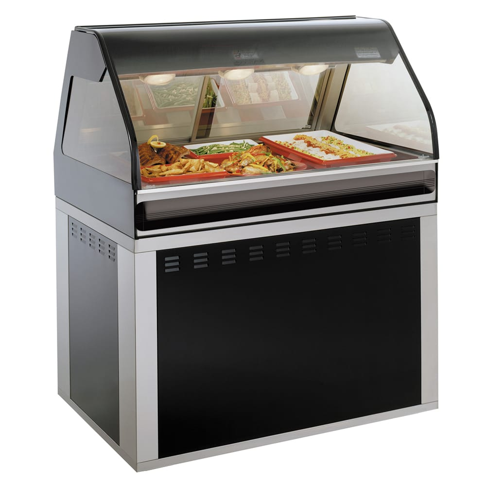 "Alto Shaam EU2SYS-48/P-BLK Self Service Hot Deli Cook Hold Display, 48"", Black"