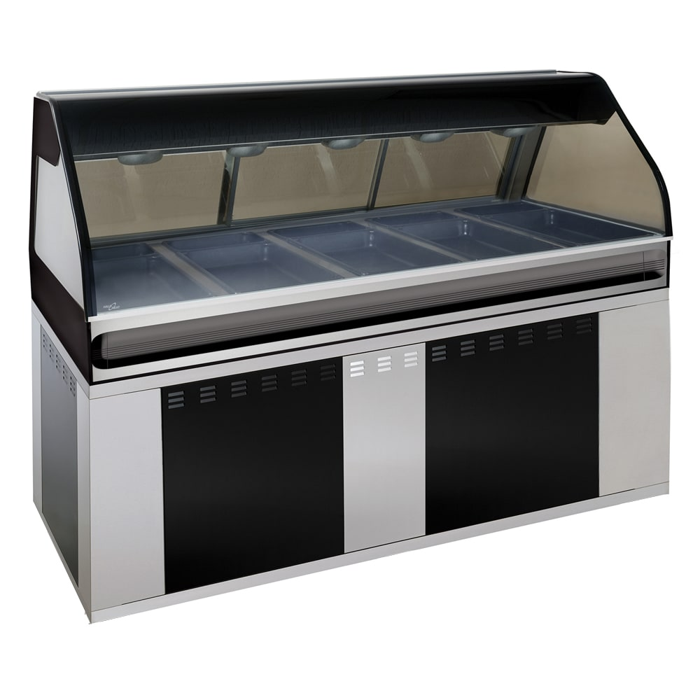 "Alto Shaam EU2SYS-72/PR-BLK Hot Deli Cook Display, Self Serve Right Side, 72"", Black"