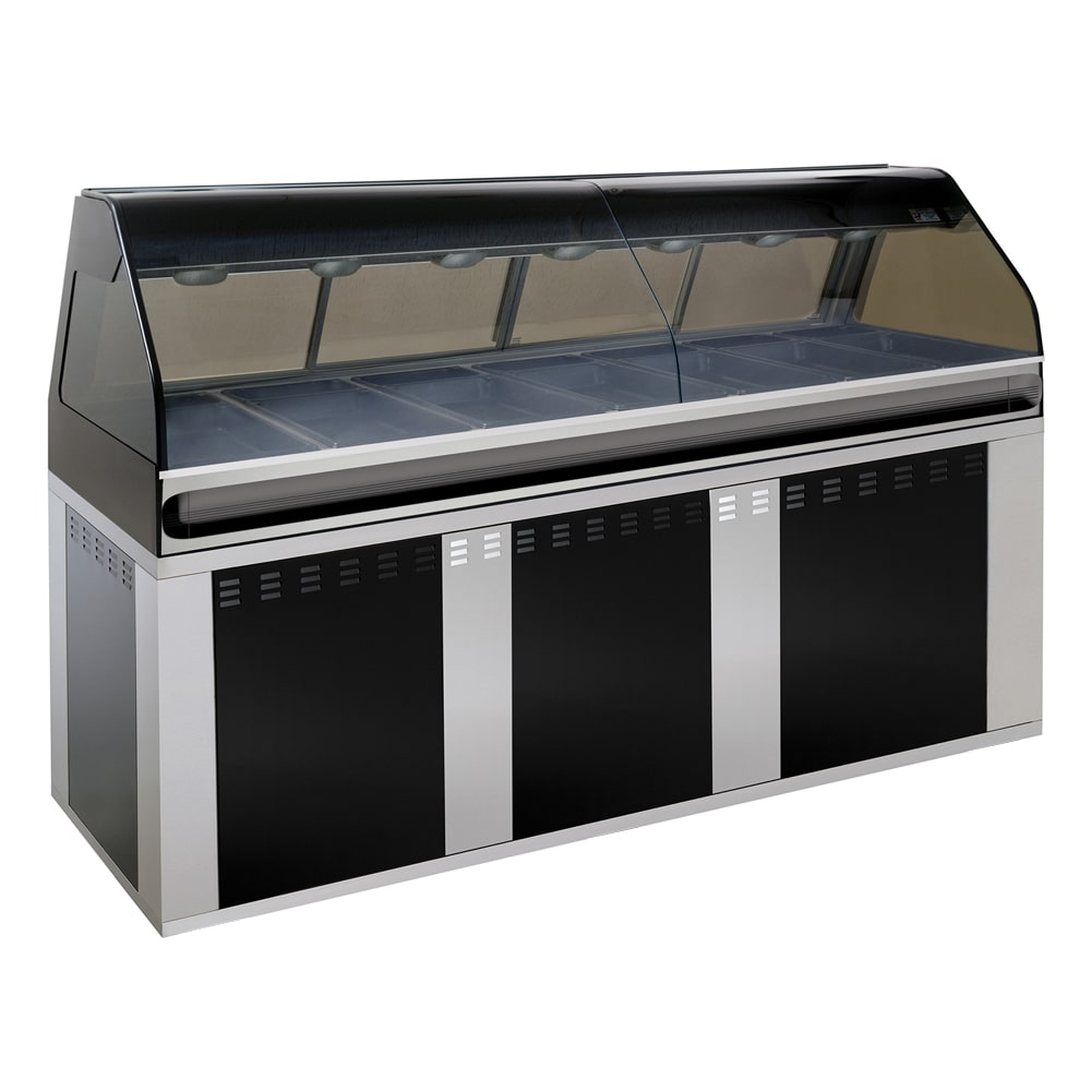 "Alto Shaam EU2SYS-96/PR-BLK Hot Deli Cook Display, 2 ft Self Right Side, 96"", Black"