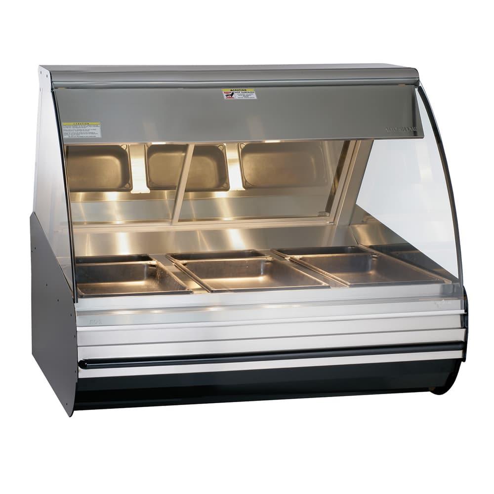 "Alto Shaam HN2-48-BLK 48"" Full-Service Countertop Heated Display Case - (3) Pan Capacity, 120v/208 240v/1ph"