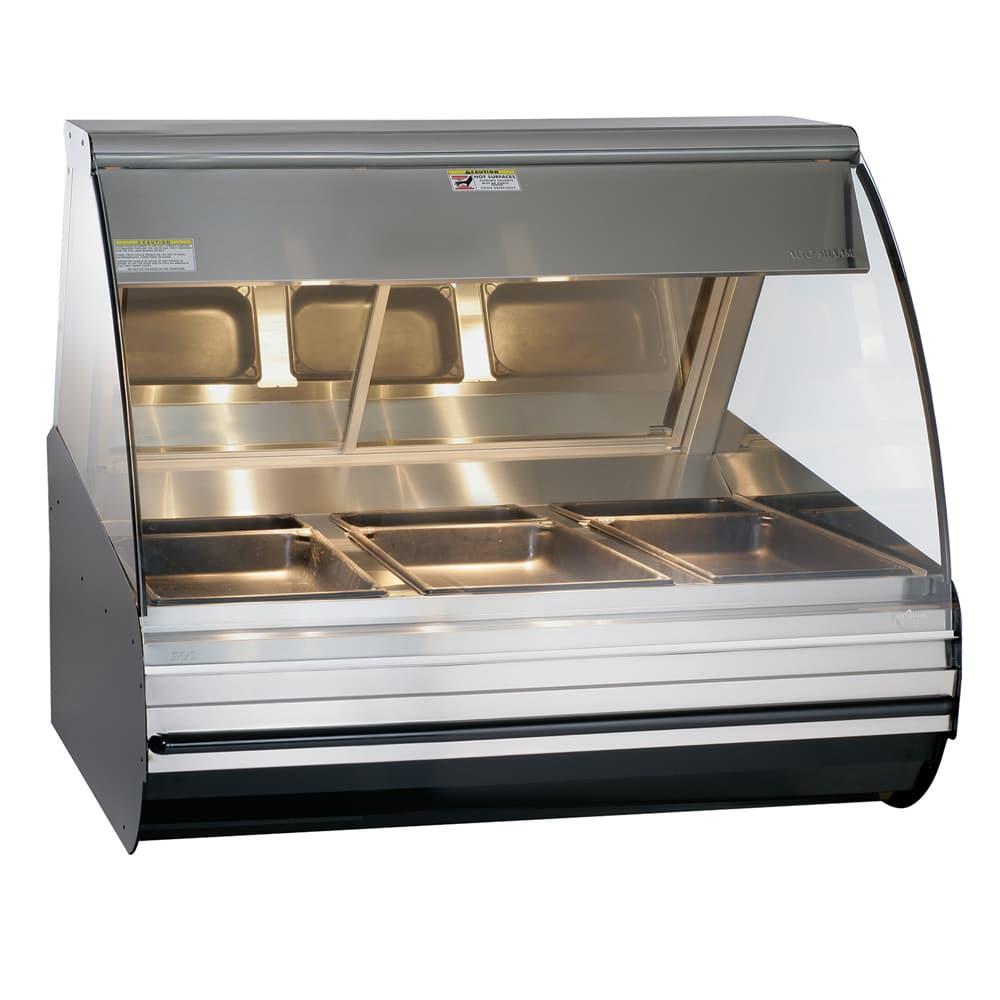 "Alto Shaam HN2-48/P-BLK 48"" Self-Service Countertop Heated Display Case - (3) Pan Capacity, 120v/208 240v/1ph"