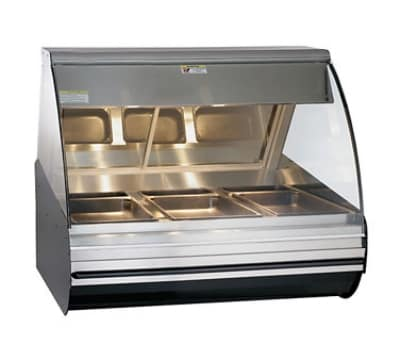"Alto Shaam HN2-48-SS 48"" Full-Service Countertop Heated Display Case - (3) Pan Capacity, 120v/208-240v/1ph"