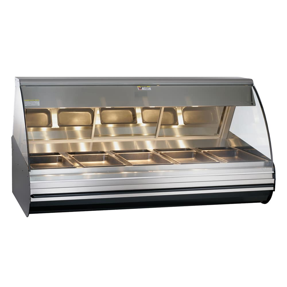 "Alto Shaam HN2-72/P-BLK 72"" Self-Service Countertop Heated Display Case - (5) Pan Capacity, 120v/208 240v/1ph"