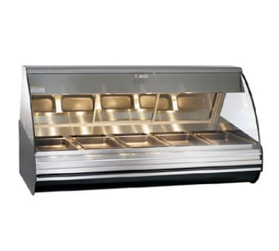 "Alto Shaam HN2-72-SS 72"" Full-Service Countertop Heated Display Case - (5) Pan Capacity, 120v/208-240v/1ph"