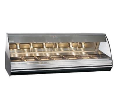 "Alto Shaam HN2-96/PL-BLK 96"" Self-Service Countertop Heated Display Case - (7) Pan Capacity, 120v/208-240v/1ph"