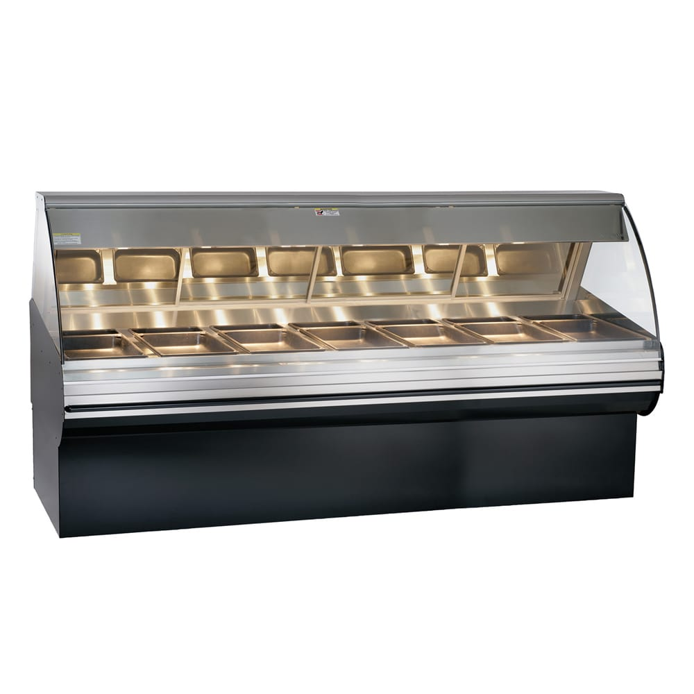 """Alto Shaam HN2SYS-96/PL-SS Self Serve Deli Display Case w/ Base, Left Side, 96"""", Stainless"""