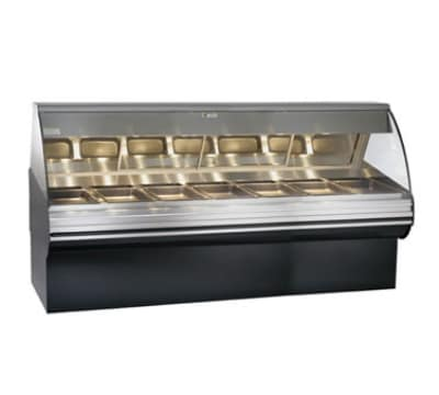 "Alto Shaam HN2SYS-96-SS Full Service Deli Display Case w/ Base, Heated 96"", Stainless"