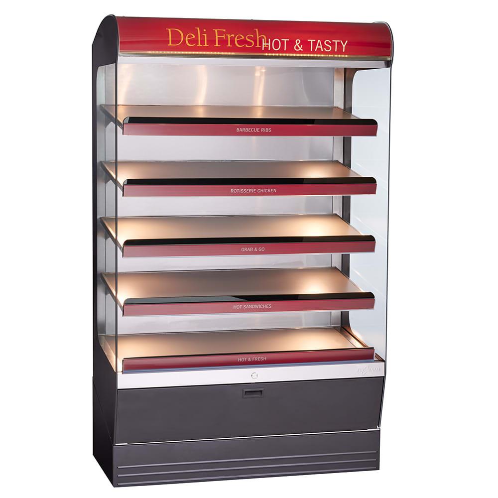 Alto Shaam HSM-48/5S 3801 Hot Food Merchandiser w/ (5) Heated Glass Shelves, Export