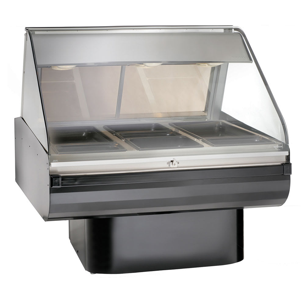 "Alto Shaam PD2SYS-48/P-BLK 230 48"" Display Case w/ Pedestal Base & Work Shelf, Black, Export"