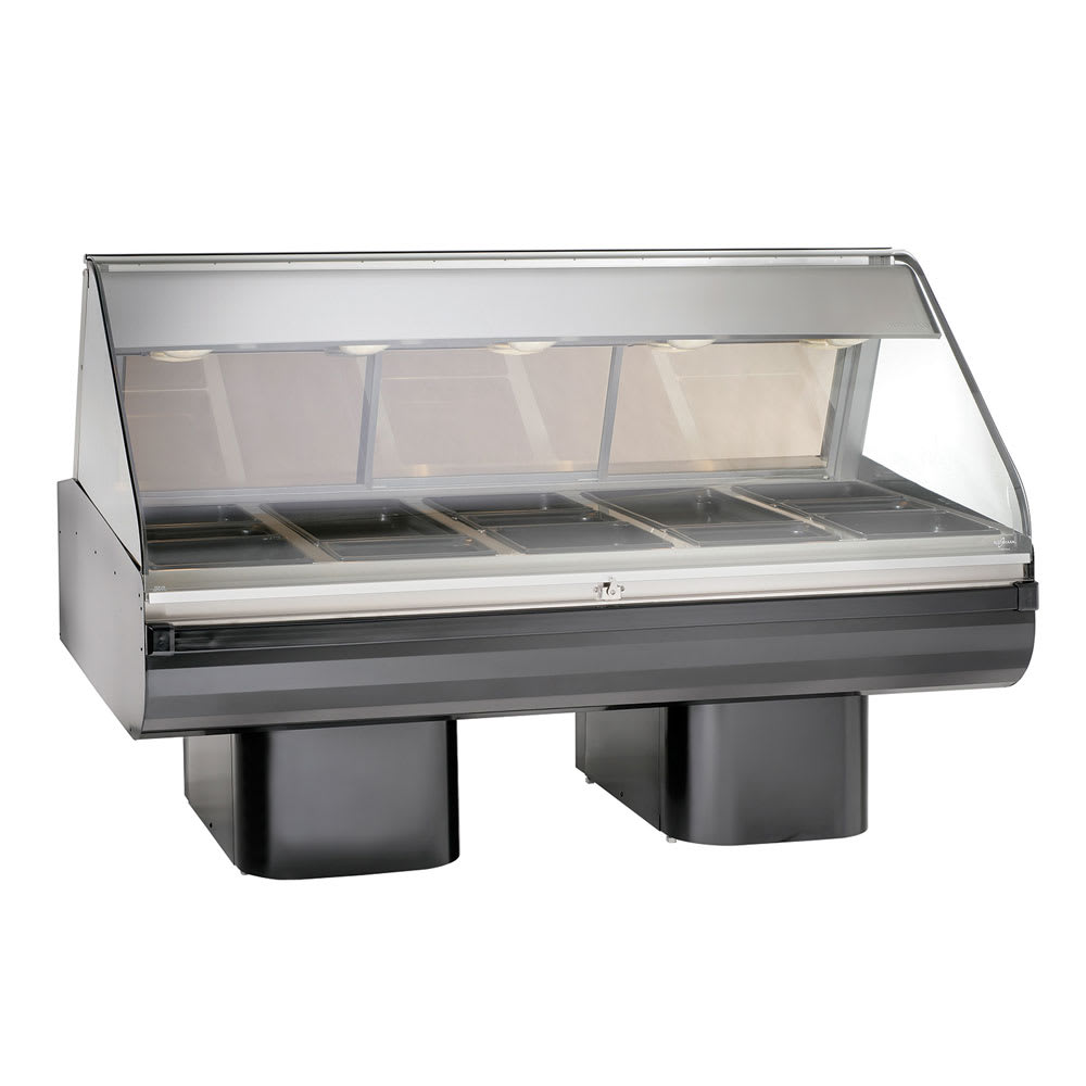 "Alto Shaam PD2SYS-72/P-BLK 120 72"" Display Case w/ Pedestal Base & 2-Work Shelf, Black, 120/208-240/1 V"