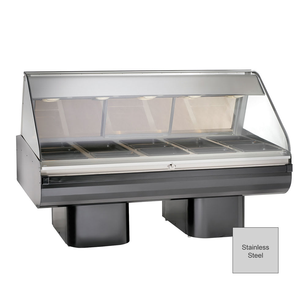 "Alto Shaam PD2SYS-72/P-SS 120 72"" Display Case, Pedestal Base & 36"" Work Shelf, Stainless, 120/208-240/1 V"