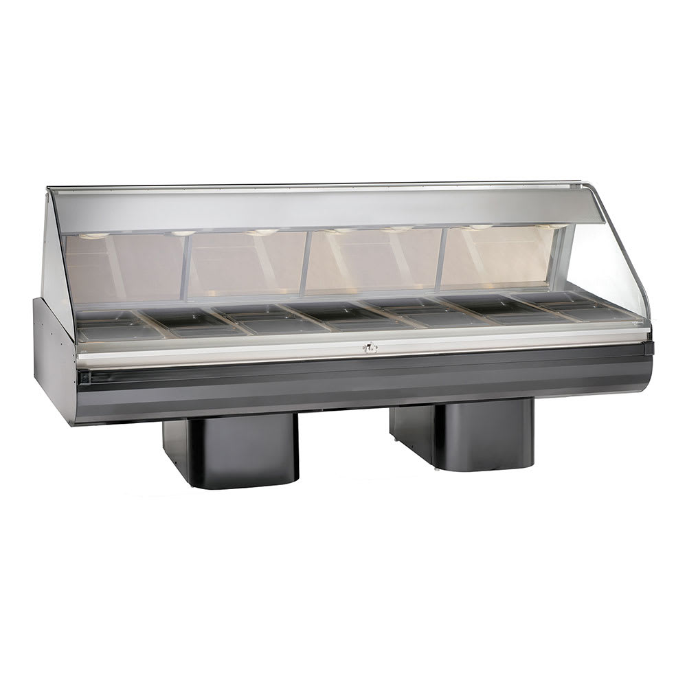 "Alto Shaam PD2SYS-96/PL-BLK 120 96"" Display Case w/ Left-Side Service Opening, Black, 120/208-240/1 V"