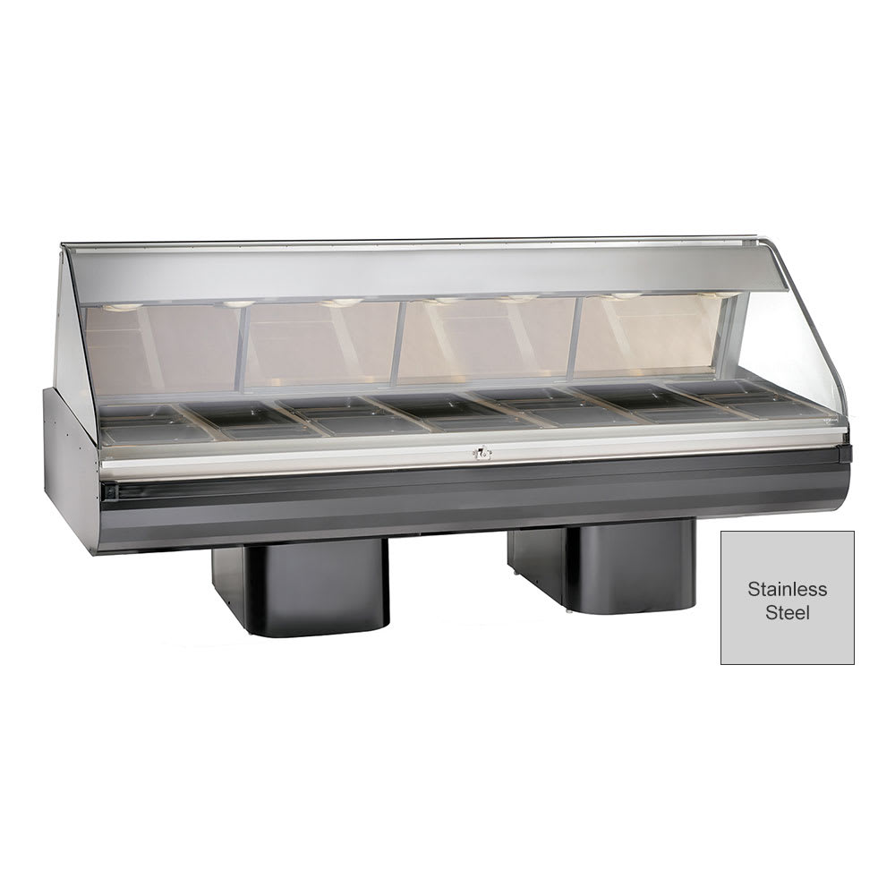 "Alto Shaam PD2SYS-96-SS Full Serve Hot Deli, 96"", (2) 8 x 48"" Shelf, Stainless"