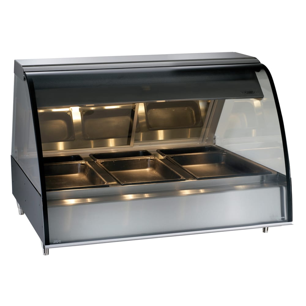 """Alto Shaam TY2-48-BLK 48"""" Full-Service Countertop Heated Display Case - (3) Pan Capacity, 120v/208 240v/1ph"""