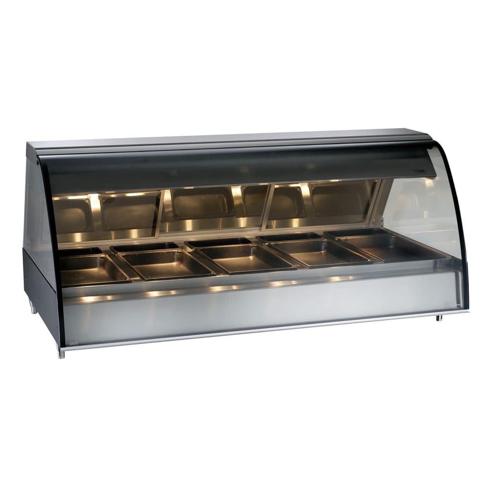 """Alto Shaam TY2-72-BLK 72"""" Full-Service Countertop Heated Display Case - (5) Pan Capacity, 120v/208 240v/1ph"""