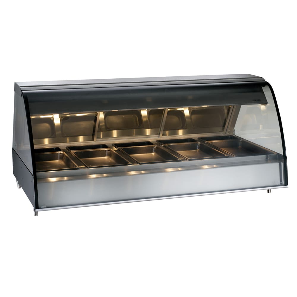 "Alto Shaam TY2-72/PL-BLK 72"" Self-Service Countertop Heated Display Case - (5) Pan Capacity, 120v/208 240v/1ph"