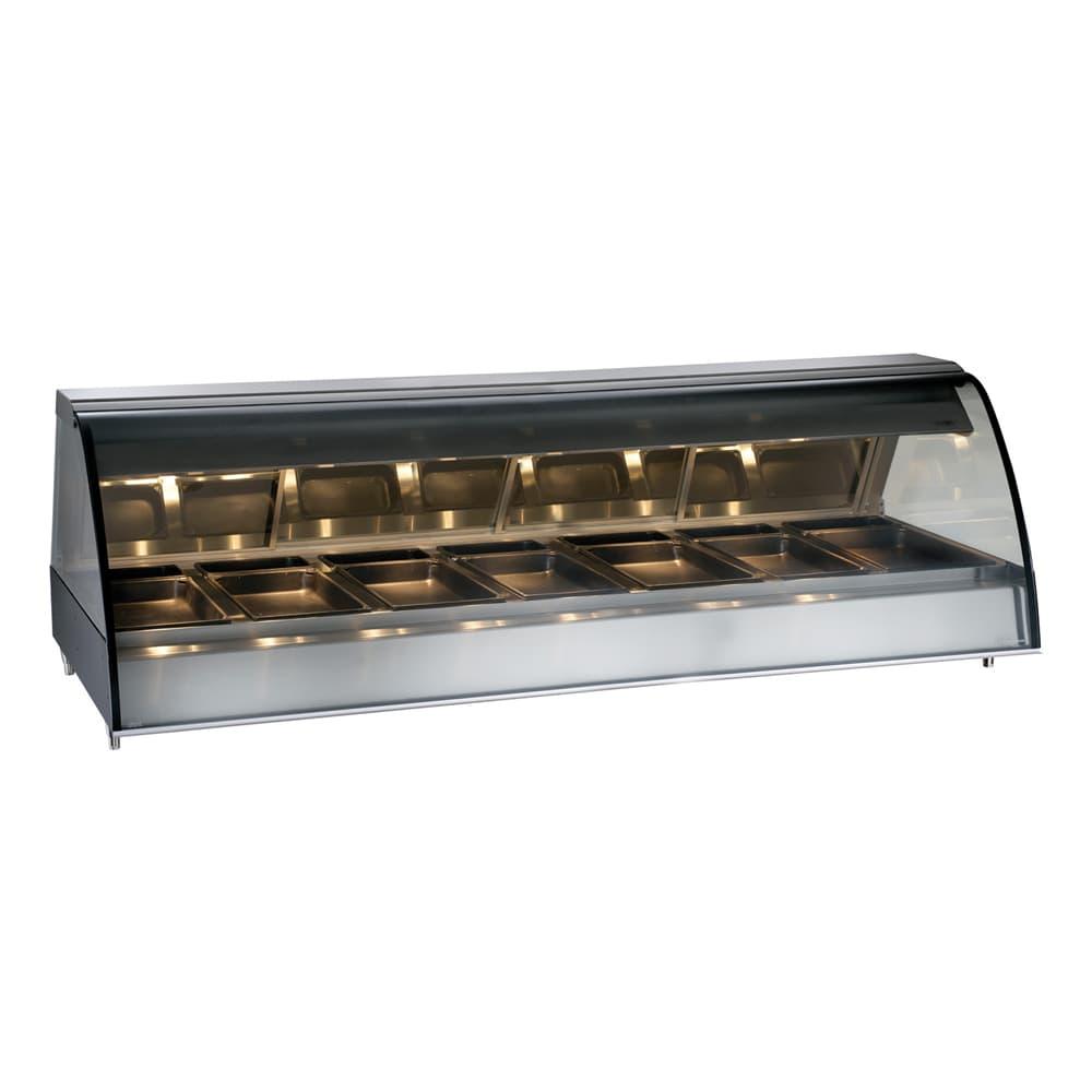 "Alto Shaam TY2-96/PR-BLK 96"" Dual-Service Countertop Heated Display Case - (7) Pan Capacity, 120v/208-240v/1ph"