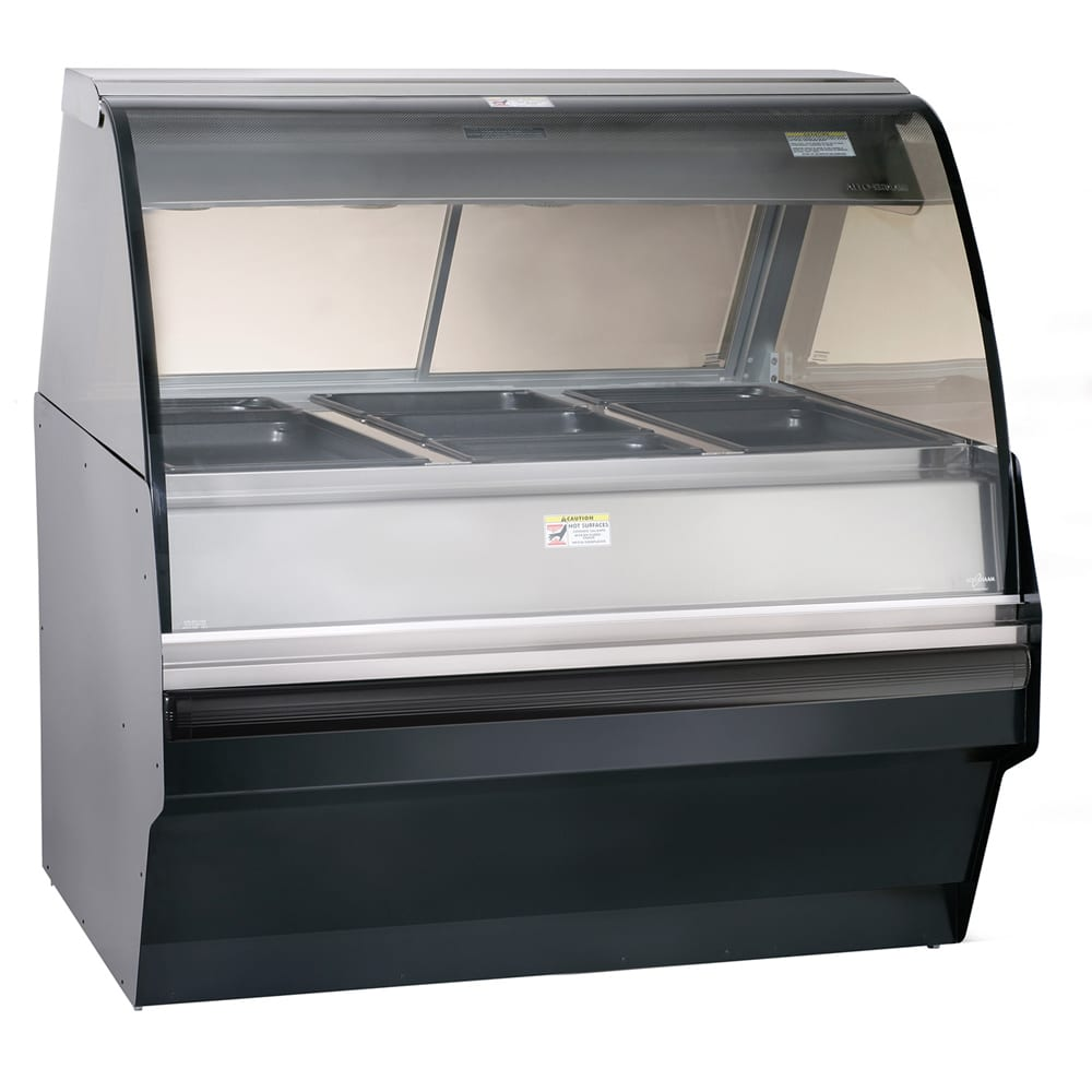 Alto Shaam TY2SYS-48/P-BLK Self Serve Hot Deli Display w/ TY2 48/P Display Case, Black