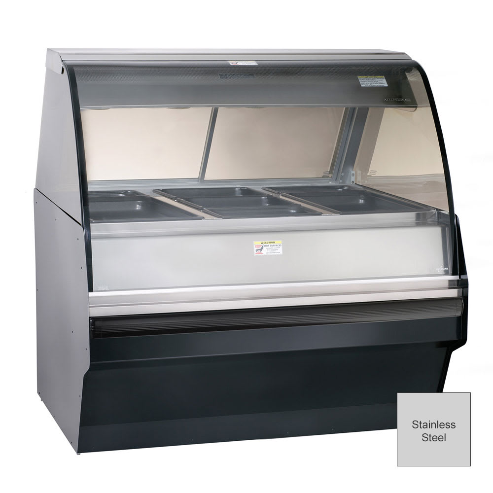 Alto Shaam TY2SYS-48/P-SS Self Serve Hot Deli Display w/ TY2 48/P Case, Stainless