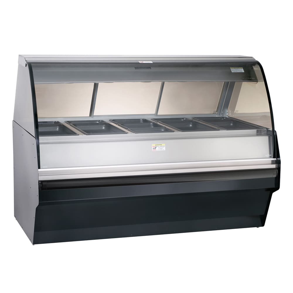 Alto Shaam TY2SYS-72/P-BLK Self Serve Hot Deli Display w/ TY2 72/P Display Case, Black