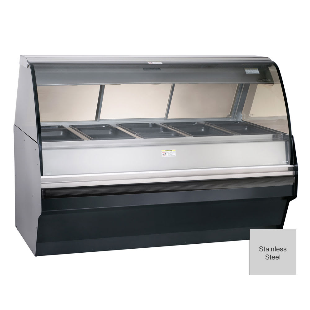 Alto Shaam TY2SYS-72/PL-SS Self Serve Hot Deli Display w/ TY2 72/PL Case, Stainless
