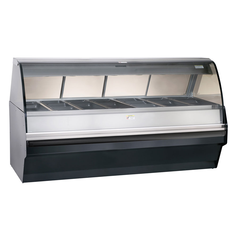 Alto Shaam TY2SYS-96-BLK Full Serve Hot Deli Display w/ TY2-96 Display Case, Black