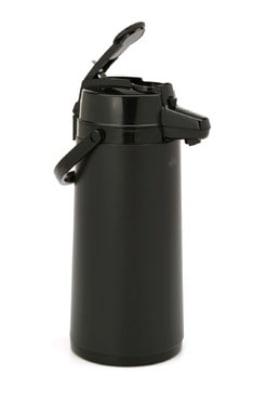 Bloomfield 7763-ALB 74 oz Lever Action Airpot w/ Glass Liner, Brew-Thru Stem, Black
