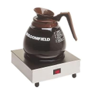 """Bloomfield 8851S Single Coffee Warmer w/ Enameled Plate, 7.5 x 7.5 x 3"""""""