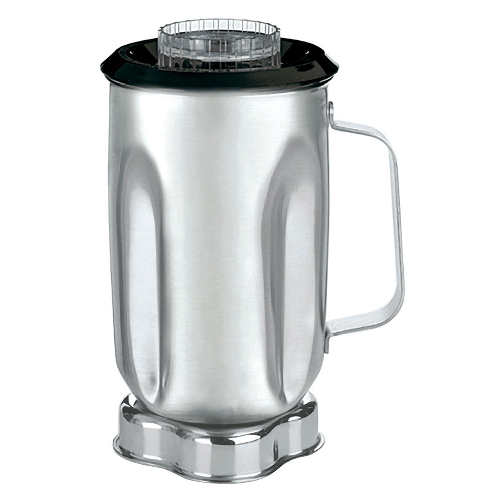 Waring CAC33 32 oz Stainless Blender Container for 700, 7011, AD1 & AD2 w/ Lid