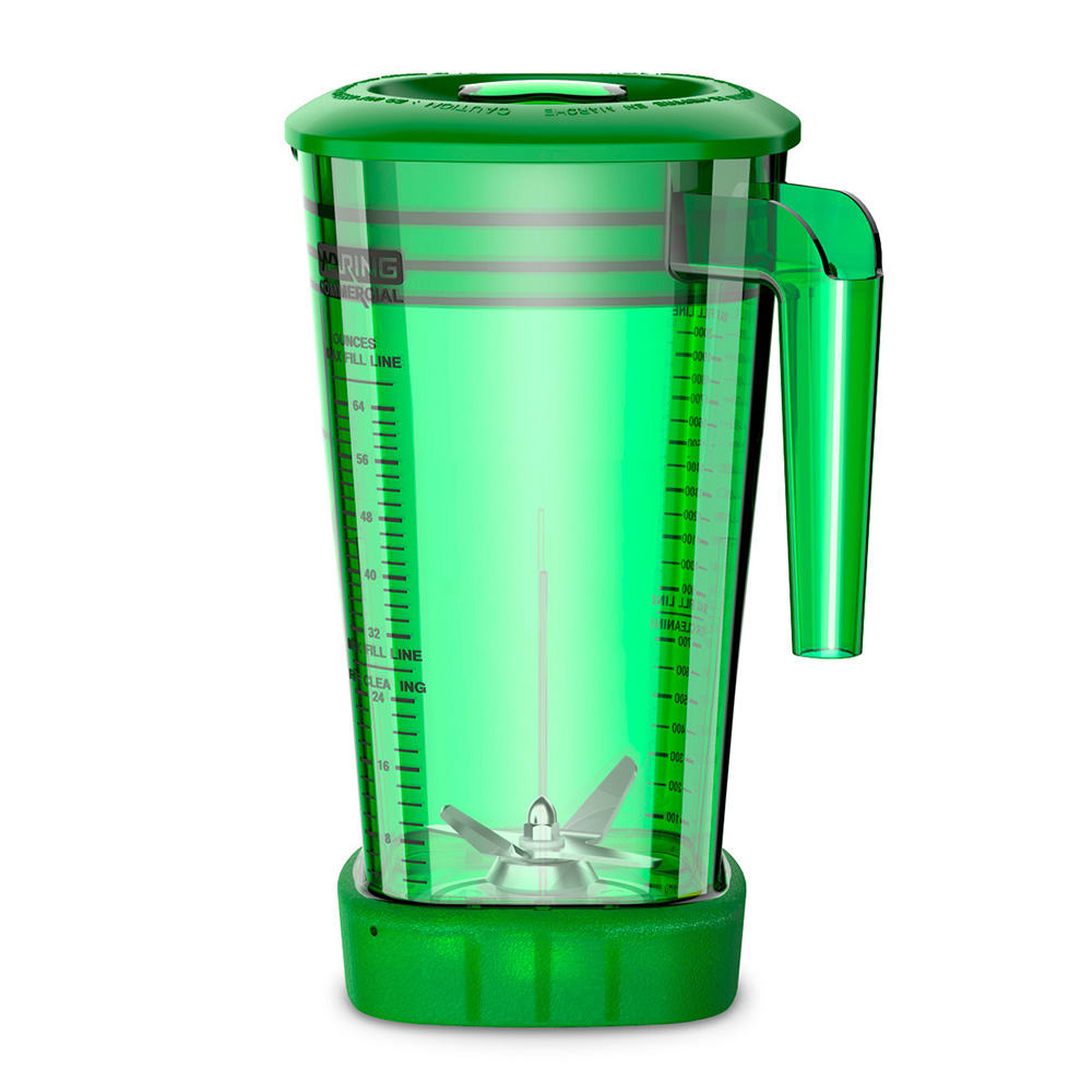 Waring CAC95-12 64 oz The Raptor™ Blender Container for MX Series Blenders - Copolyester, Green