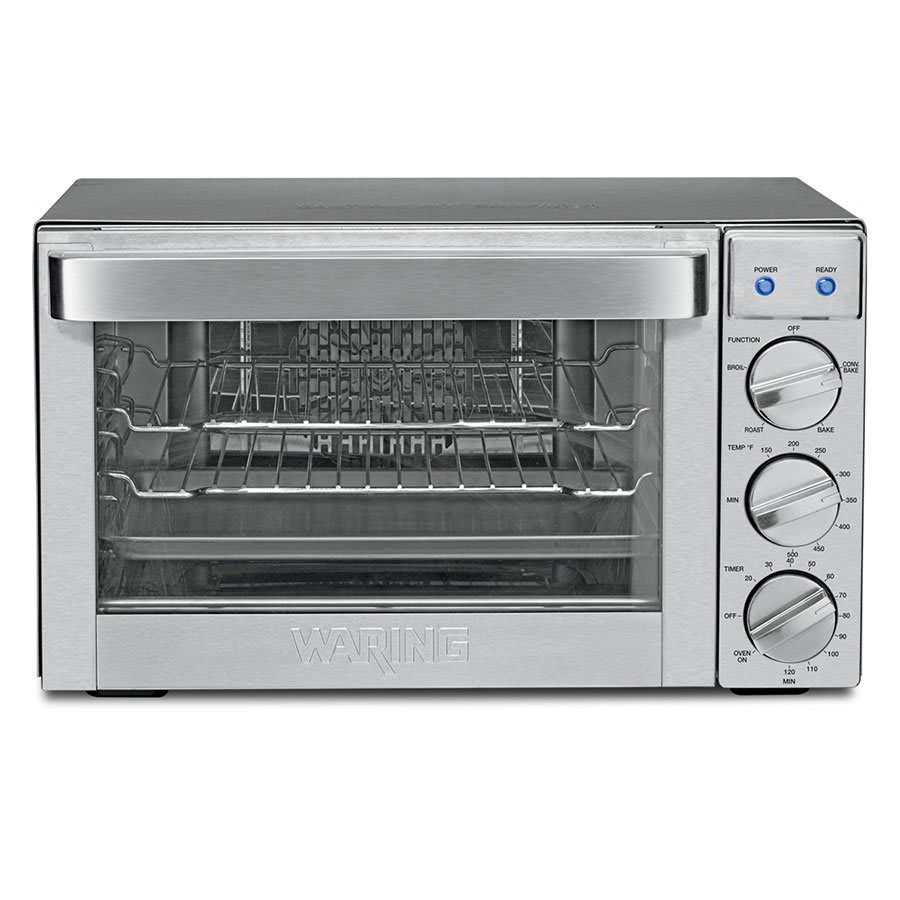 Waring CO1000 Countertop Convection Oven w/ 120-min Timer & 2-Wire Racks, .9-cu ft
