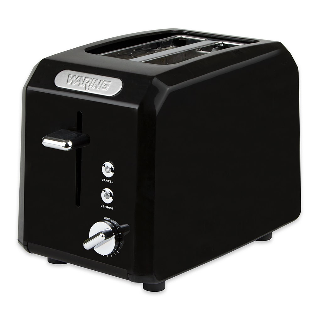 """Waring CTT200BK Toaster Oven w/ Cool Touch Housing & Shade Control, (2) 1.3"""" Slots, Black"""