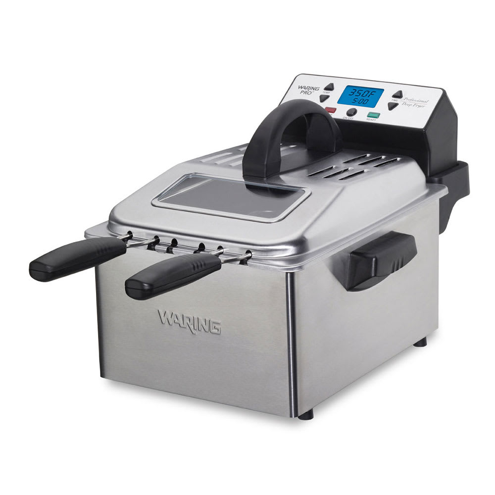 Waring DF280 Digital Deep Fryer w/ Removable Oil Container & Timer, 2.3-lb Food Capacity