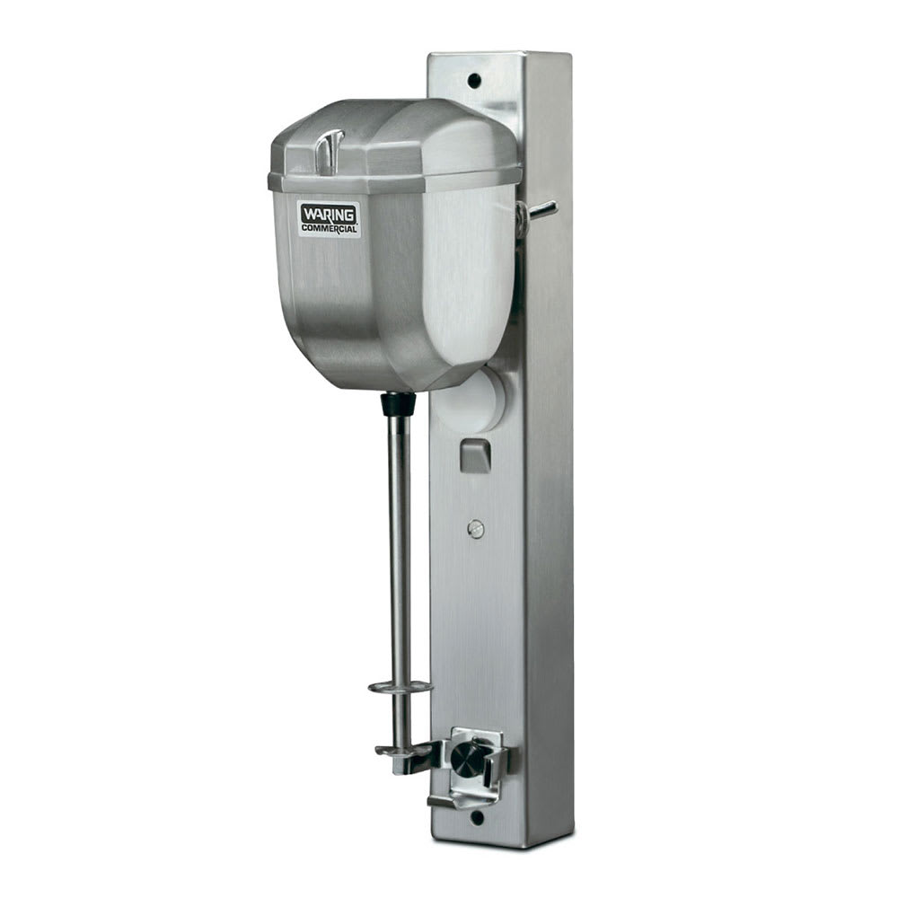 Waring DMC180DCA Wall-Mounted Heavy Duty Commercial Drink Mixer w/ 2 Speeds & Auto Start/Stop