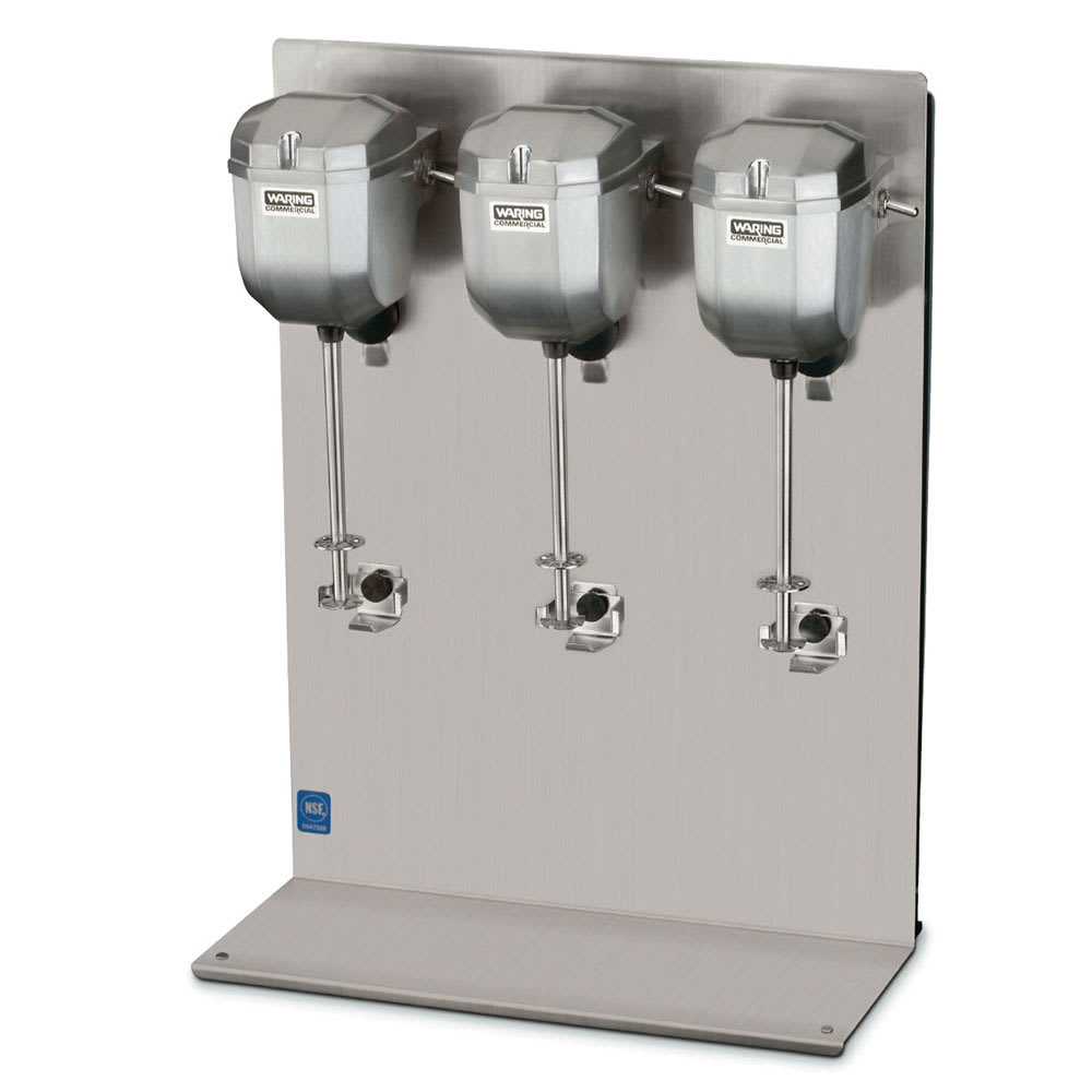 Waring DMC201DCA Counter-Mounted Heavy Duty Commercial Drink Mixer w/ 2 Speeds & Triple Head