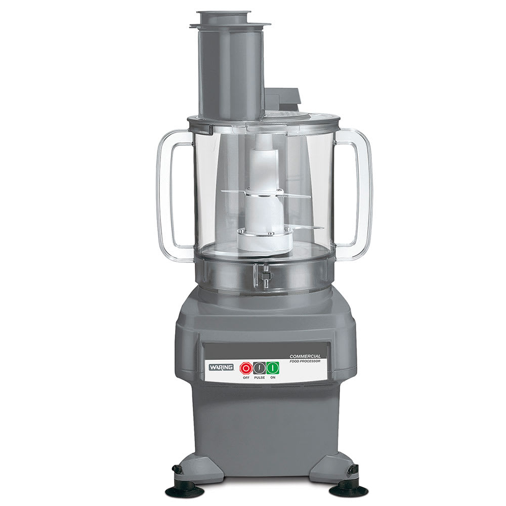 Waring FP2200 1 Speed Continuous Feed Food Processor w/ 4 qt Bowl, 120v