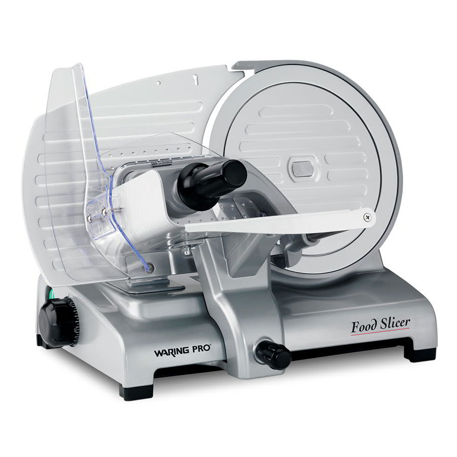 Waring FS1000 Food Slicer w/ 8.5-in Blade & Non Slip Feet, Aluminum Construction