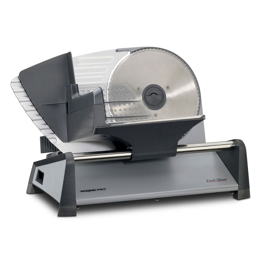 "Waring FS155 Food Slicer w/ 7.5"" Stainless Cutting Blade & Adjustable Slice Control Knob"