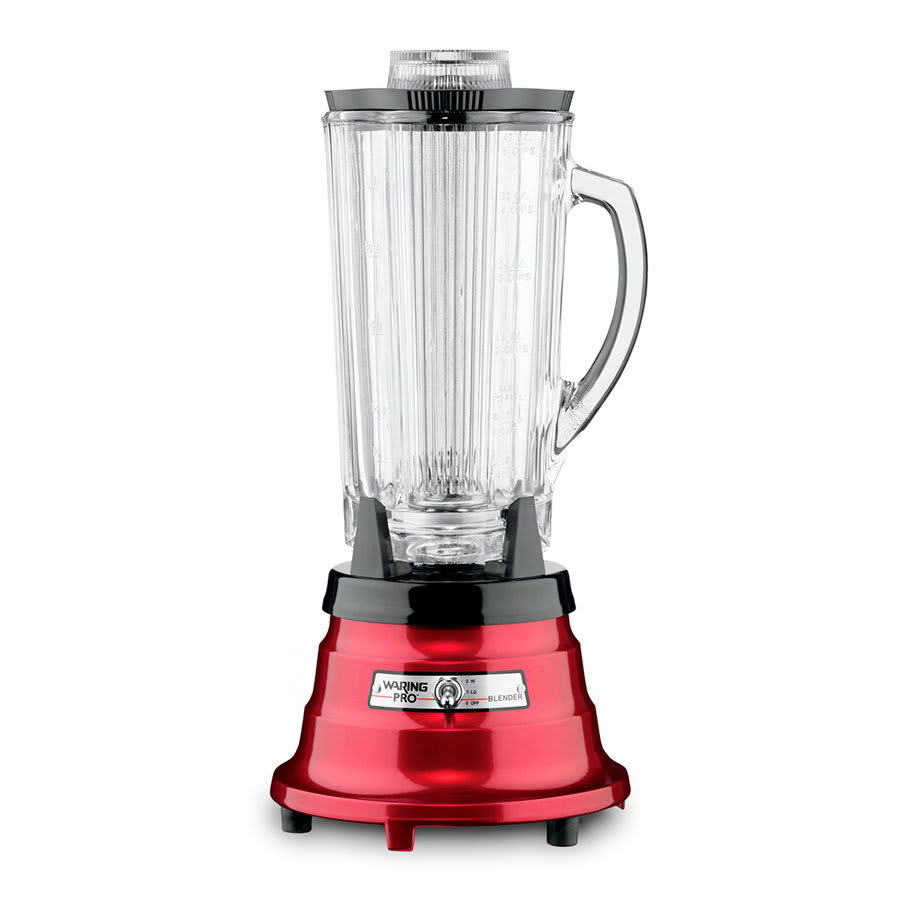Waring Pbb225 40 Oz Blender W Cloverleaf Carafe Waterfall Base 550 Watts Metallic Red