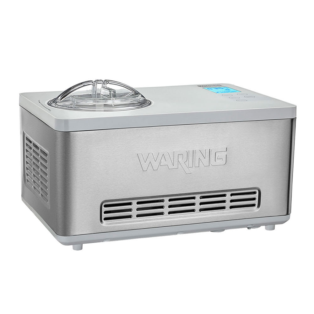 Waring WCIC20 2-qt Electric Ice Cream Maker - Stainless, 120v