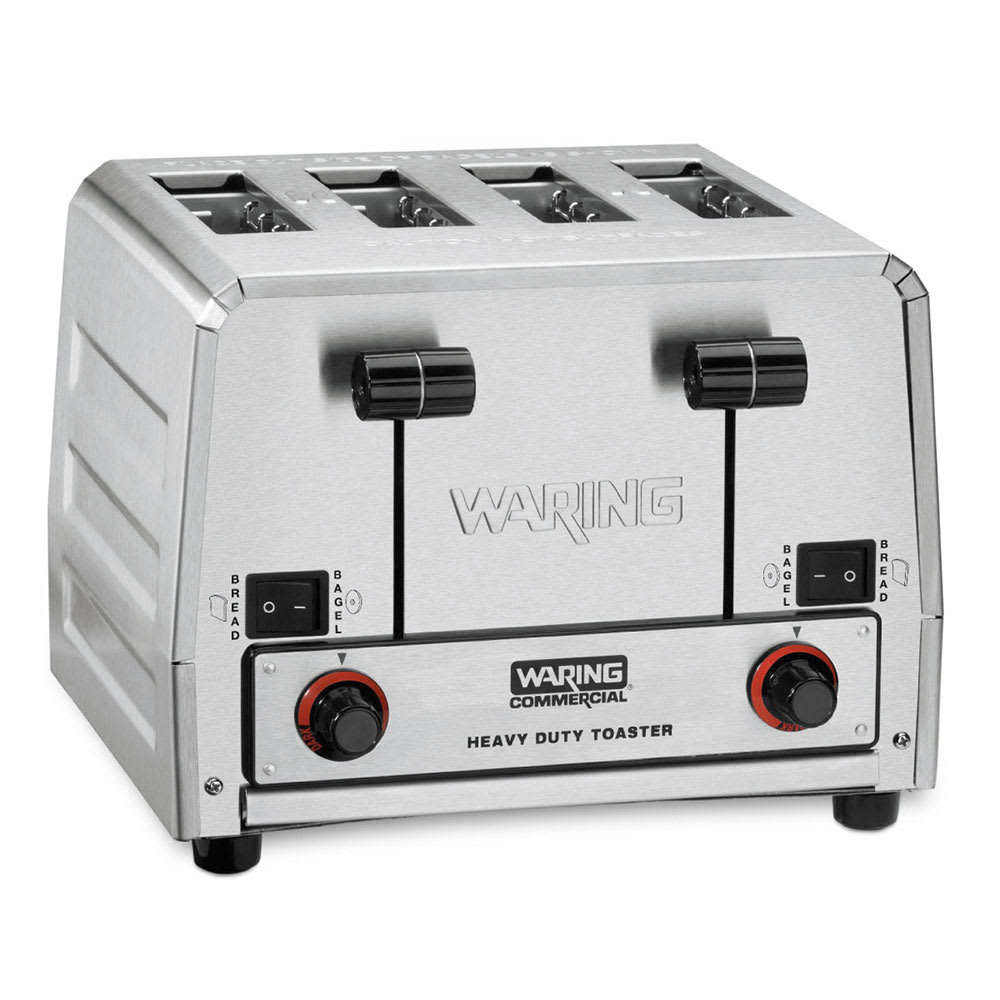 "Waring WCT850RC Slot Toaster w/ 4-Slice Capacity & 1.5""W Product Opening, 120v"