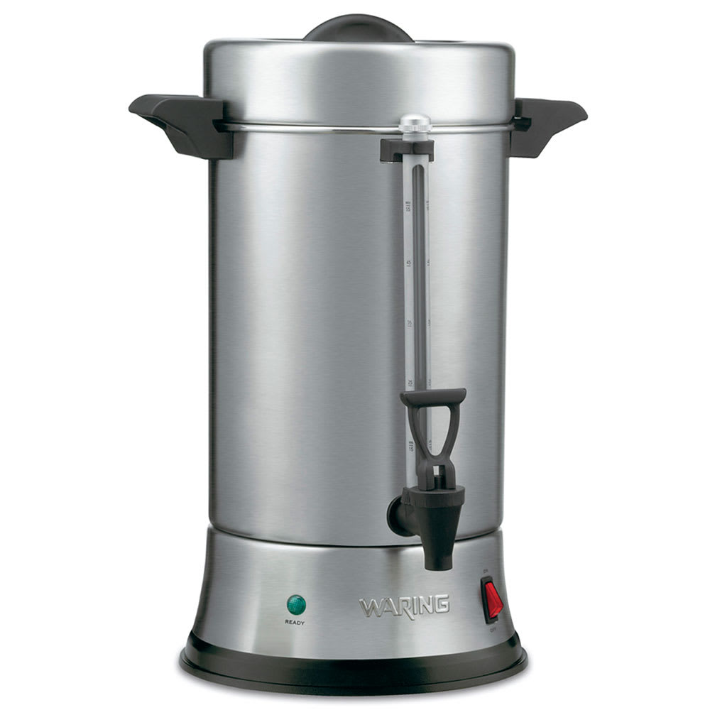 Waring WCU550 55 Cup Coffee Urn w/ Dual Heater System & Ready/Power On Indicators