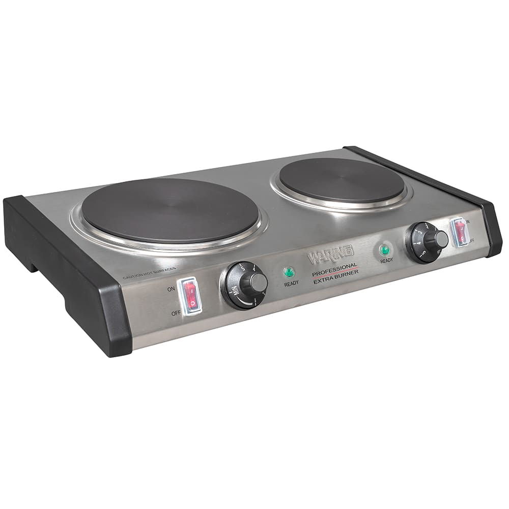 "Waring WDB600 19.75"" Electric Hotplate w/ (2) Burners & Infinite Controls, 120v"