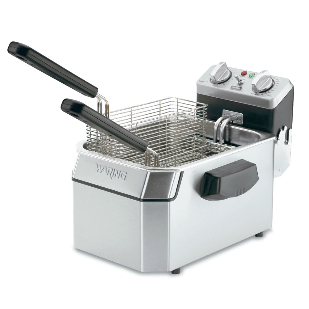 Waring WDF1000 Countertop Electric Fryer - (1) 10 lb Vat, 120v