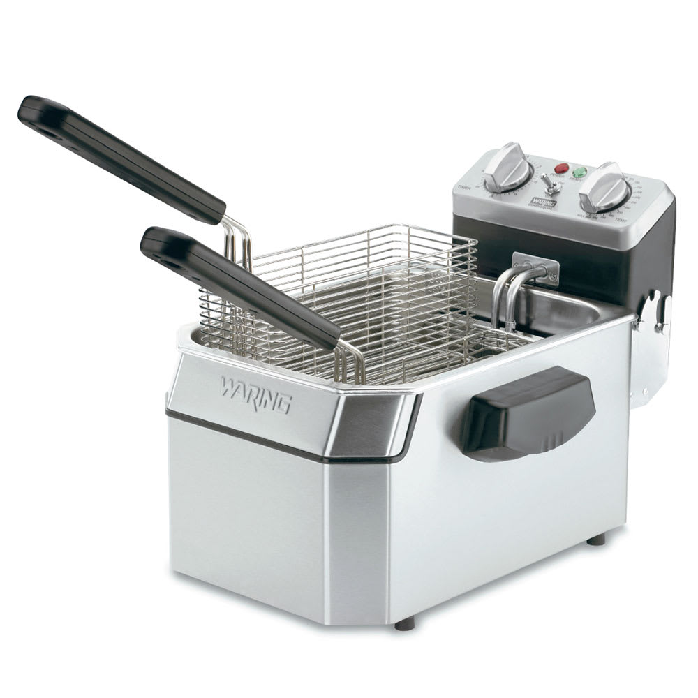 Waring WDF1000B Countertop Electric Fryer - (1) 10 lb Vat, 208v/1ph